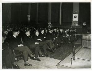 Voordracht van Max Euwe over zijn partij tegen Aljechin